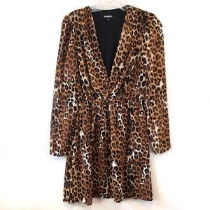 Express Leopard Print Dress XS